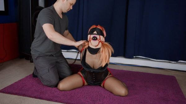 A Bad Girl Roped In Red