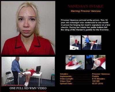 SpankedInUniform - BarsandStripes - Vanessa'a Intake