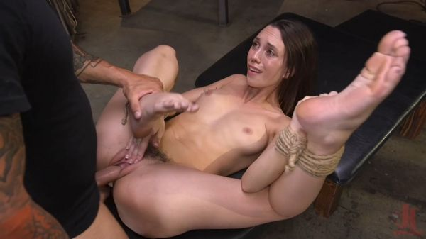 Tight Pussy Rope-Tied and Fucked Hard
