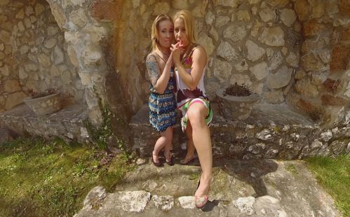 Two Sexy Ladies Love To Tease You - Smartphone