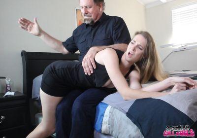 SpankedCallGirls - Ashley Lane Spanked by Double Dan