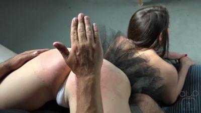 Ballerina Wheelbarrow Spanking- Spread for Discipline