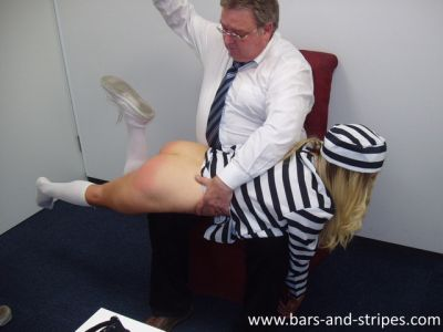 SpankedInUniform - The Shoes - Prisoner Leandra