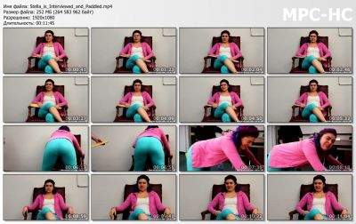 RealSpankingsInstitute - Stella is Interviewed and Paddled