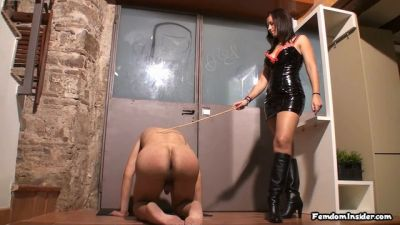 FemdomInsider – Caning the Shit Out of my Slave