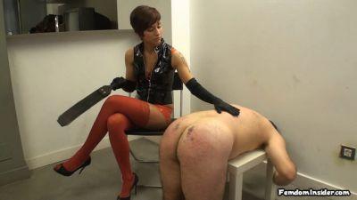 FemdomInsider – Gorgeous Mistress, Brutal Spanking