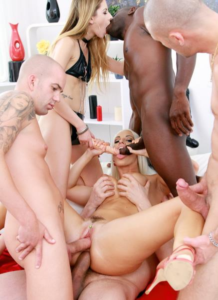 Blanche Bradburry - Blanche Bradburry assfucked with strapon by Rebecca Volpetti & DPed by four huge cocks SZ2044 [HD 720p] (LegalP0rno)