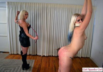 GirlSpanksGirl - Bella Punishes Dria Severely