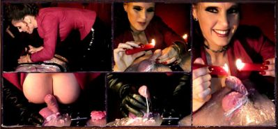 DominatrixAnnabelle – Cling Filmed and Candle Waxed!