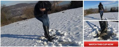 FetishLiza – Snow and muddy boot licker