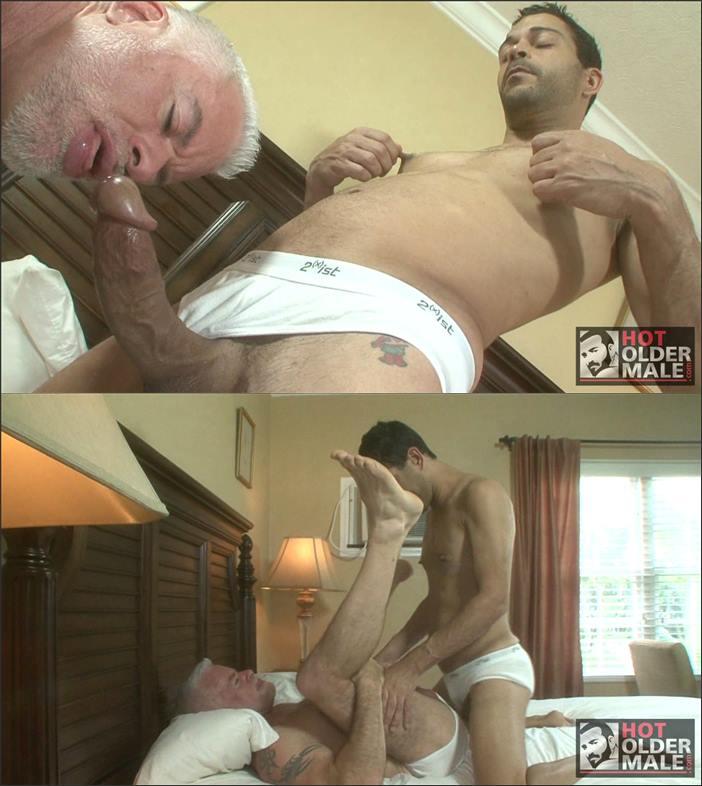 HotOlderMale - Brief Buddies - Jake Marshall Takes a Huge Cock - Mitch Jordan