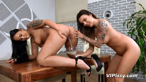 Golden Shower - Jennifer Mendes and Vanessa Decker