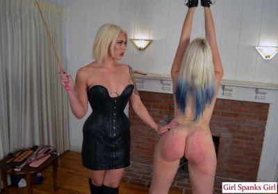 GirlSpanksGirl - Bella Punishes Dria Severely 2