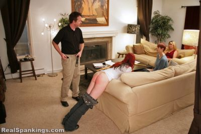 RealSpankings – Home From College: KJ Gets the Belt