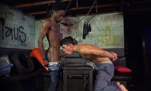 SPTZ – A big black bareback cock for his tight white ass – Nolan and Nestor