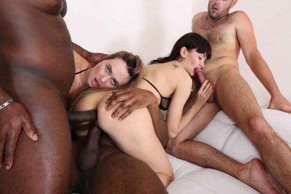 LegalP0rno - Milana Love, Sasha Colibri - Nasty bitches Milana Love Sasha Colibri going crazy for black cocks IV261 [HD 720p]