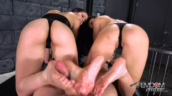 Ariana Marie and Alina Lopez - Double Foot Sex