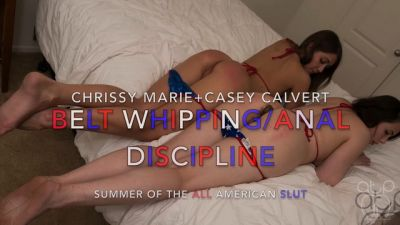 Belt Whipping-Anal Discipline - Summer of the All American Slut - 4