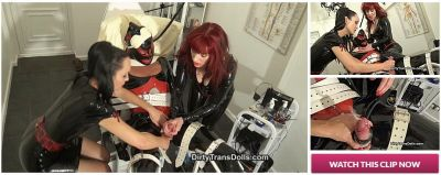 DirtyTransDolls – Feminised and milked rubber doll part 3