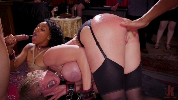 Dee Williams and Nikki Darling - Squirting DP Anal Sluts Serve the Folsom Orgy