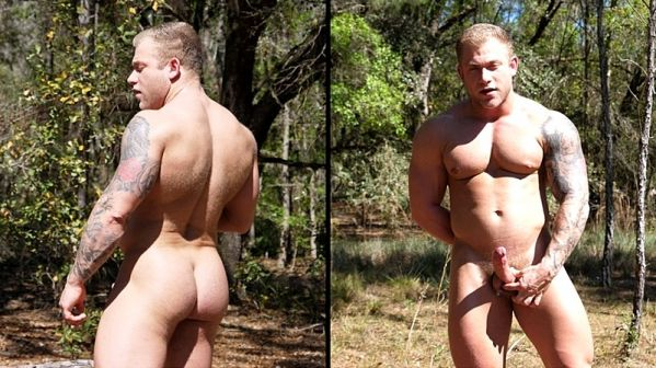 TGS – Blond Bodybuilder in the Woods – Jake Daniels