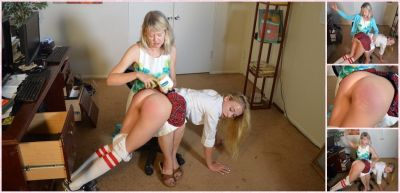 SpankingSororityGirls – Episode 187: Riley Anne Spanked for Spreading Rumors