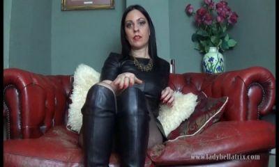 Clubstiletto – Leather Boot Licker – Lady Bellatrix