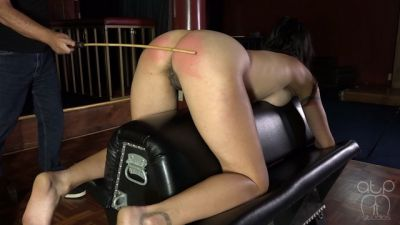 Judicial Caning - Chrissy Marie and Delta Stripped for the Strap and Cane