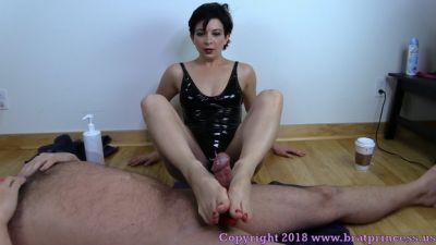 BratPrincess – Edging Foot Job With Post Cum Torture – Lola