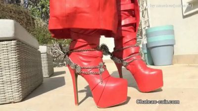 Chateau-Cuir – Red leather coat JOI