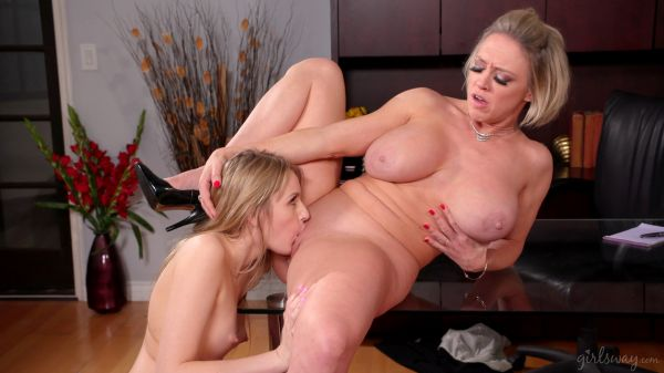 Scarlett Sage and Dee Williams - Maid For Each Other Office Cleaning