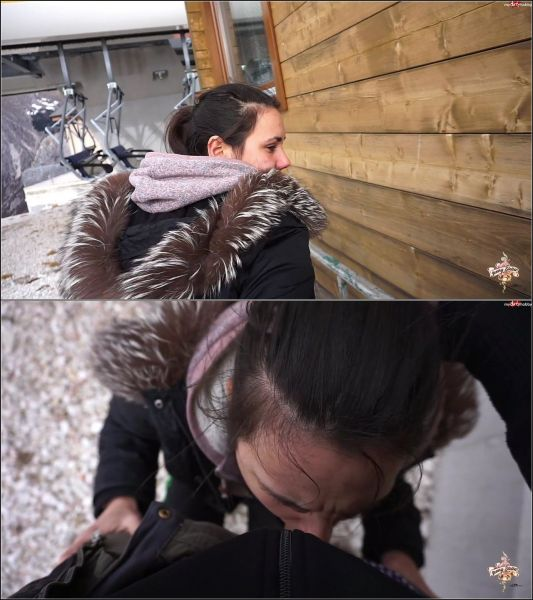 JennyStella - Zu wenig Schnee! Dafur dann ein Quickie am Skilift!