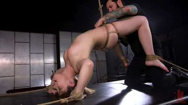 Teen BDSM Whore Luna Rival Anal Fucked in Brutal Rope Bondage