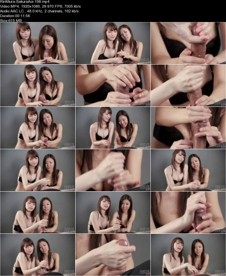 Rin Miura, Sakura Aoi - Hot Double Handjob (2 videos) [FullHD 1080p] (HandjobJapan)