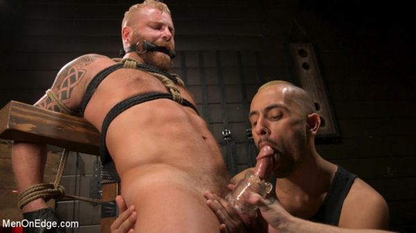 MOE – Roped In – Muscle Dom Riley Mitchell Bound and Edged