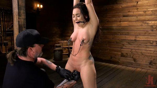 Curvy Slut Gabriella Paltrova in Grueling Rope Bondage and Tormented
