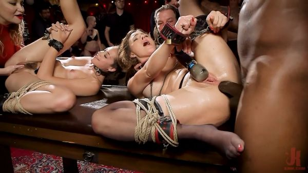Teen Anal Slut Taught The Ropes at Halloween Swingers Ball
