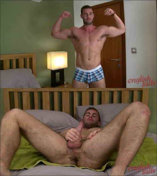 ELs - Muscular & Hairy Straight Personal Trainer Tom Shows his Hairy Hole & Solid Uncut Cock!