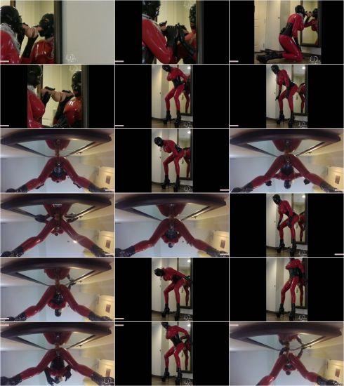 Latex Daniella - Chastity Anal Creampie Mirror Ride Fuck [FullHD 1080p] (M@nyVids)