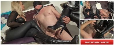 DirtyDommes – Leather boot worship introduction