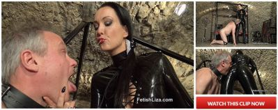 FetishLiza – Black latex polisher