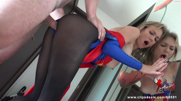 Angel The Dreamgirl - Fucked Super Girl Thru Pantyhose and Cum on her legs (22.04.2019) [UltraHD/4K 2160p] (Clip4Sale)