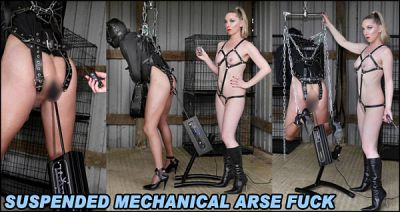 TheEnglishMansion – Suspended Mechanical Arse Fuck – Mistress Sidonia