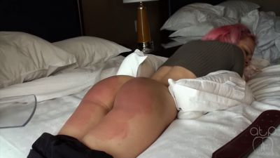 Naughty Kiki- Brutal Bare Bottom Strapping - Lessons - 2