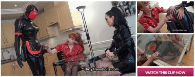 DirtyTransDolls – Stretched rubber maid part 1