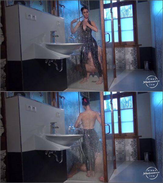 KinkyMistresses: Mistress Susi - Latex Worship in the Shower (HD/2019)