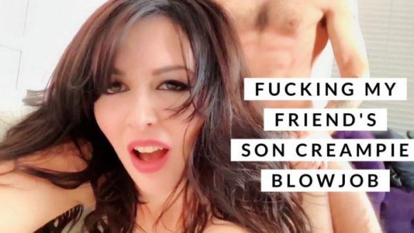 Larkin Love - Fucking My Friend's Son Creampie Blowjob (02.07.2019) [HD 720p] (M@nyVids)