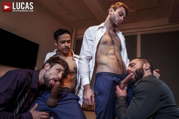 LE - Rafael Alencar, Drew Dixon, Max Adonis & Jake Morgan - Late-Night Meeting