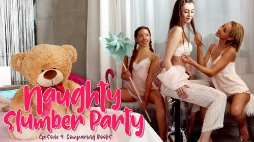 Naughty Slumber Party: Comparing Boobs 4k
