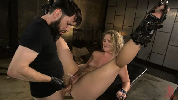 Lisey Sweet - All Natural Blonde Babe Lisey Sweet Ass Fucked and Abused in Bondage